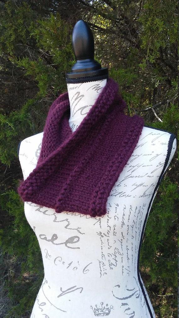 Simple Knit Cowl Pattern Cowl Knit Pattern Pdf Knit Pattern Etsy