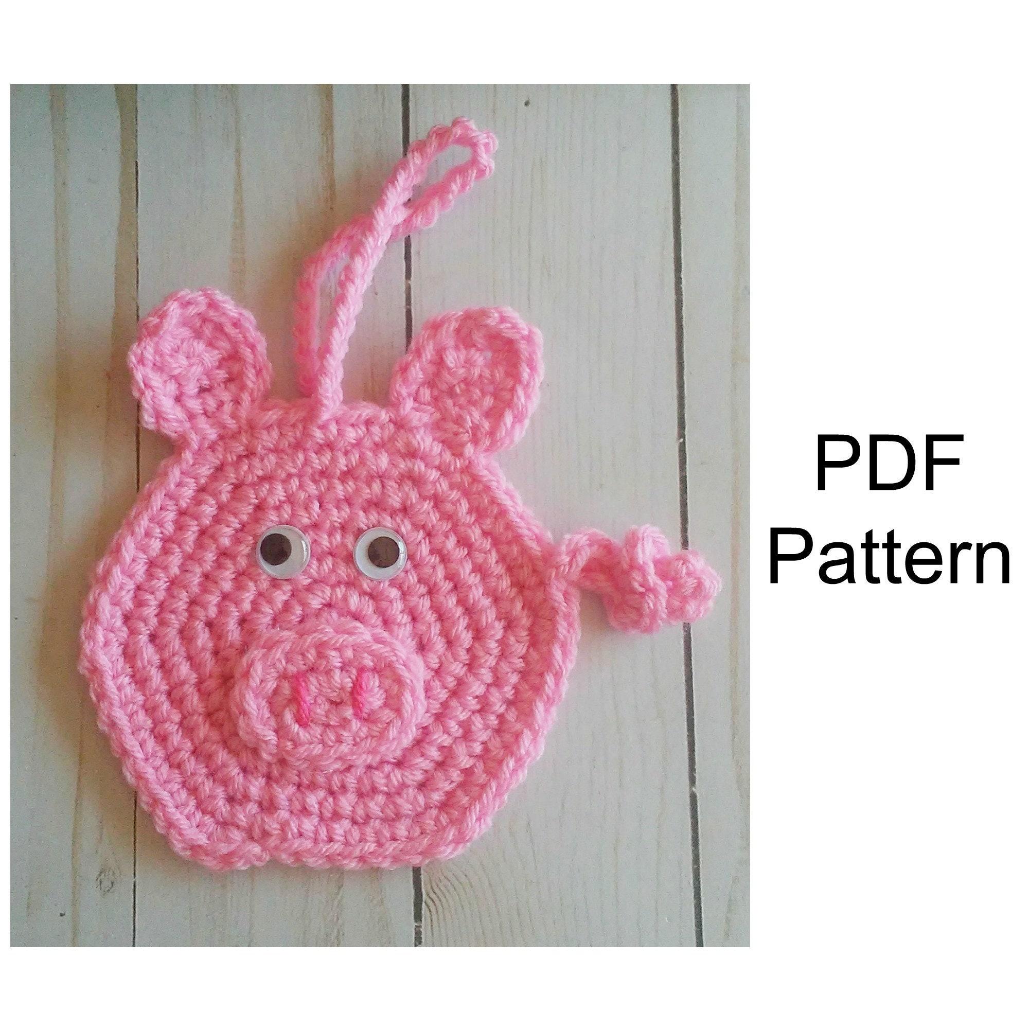 Pig Ornament Crochet Pattern Crochet Pdf Pattern Christmas Etsy