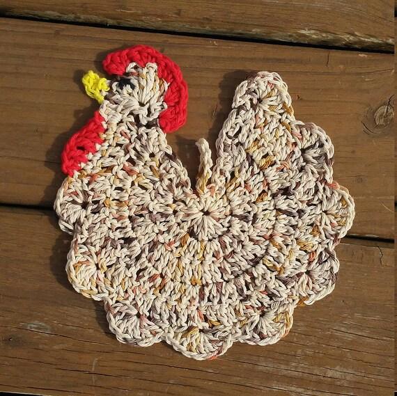 Häkeln Sie Huhn-Topflappen zu Häkeln Sie Huhn Huhn   Etsy