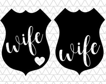 Police Wife, police svg, police badge svg, Police Wife SVG, svg files, files for cricut, svg bundle, svgs for cricut, instant download, svg