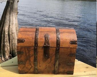 Antique Trunk, Storage Box, Display, Farmhouse Decor
