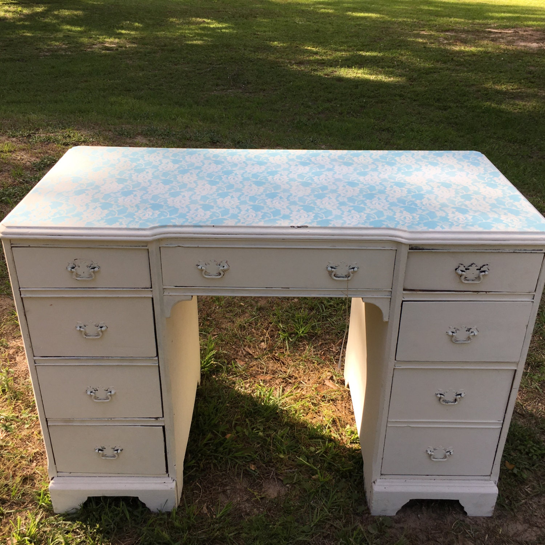 Vaisselier Shabby Chic: Shabby Chic Dresser Chippy Writing Desk Vanity Dresser