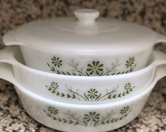 Pryrex Bowl Set, Vintage Mixing Bowls,