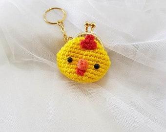 Chicken Mini Coin purse&Bagcharm