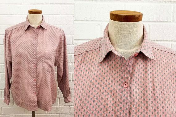 Vintage Tarazzia Pale Pink Starburst Button Front