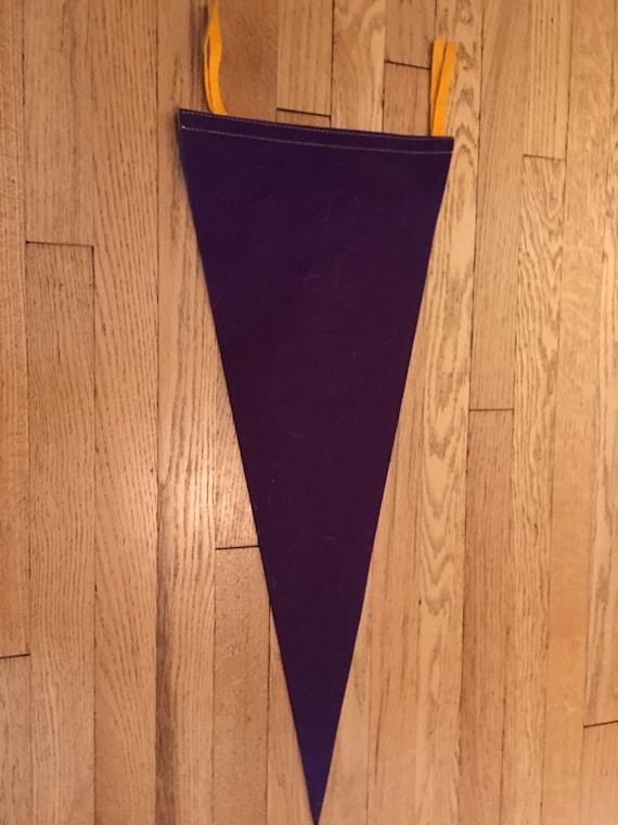 Vintage 1960s Minnesota Vikings Nfl Football Pennant Flag Banner 11 5x29 Inches