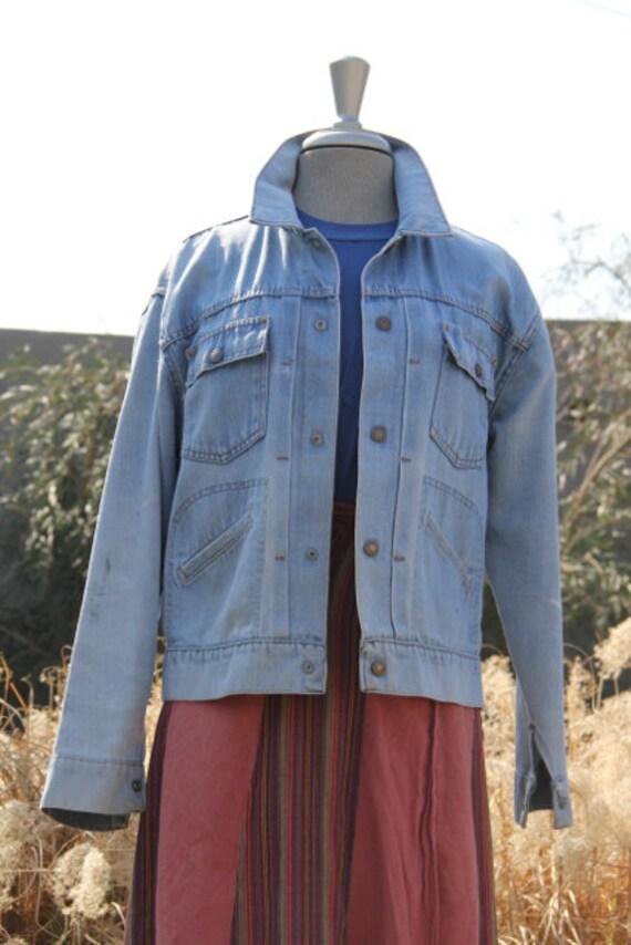 vintage beautiful rare 60s denim jacket