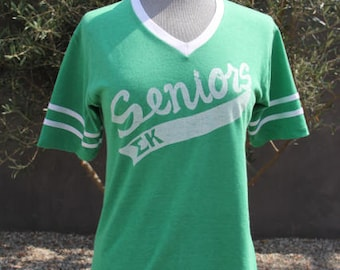 vintage favorite green seniors v neck tshirt