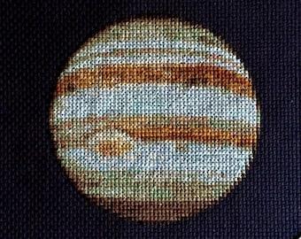 Jupiter Cross Stitch Pattern Instant Download PDF