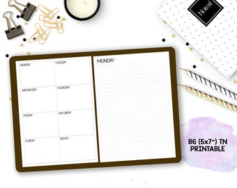 B6 Traveler's Notebook // Sticker Shop Owner Blank Monthly/Weekly/Daily Printable Insert // for Personal Use Only