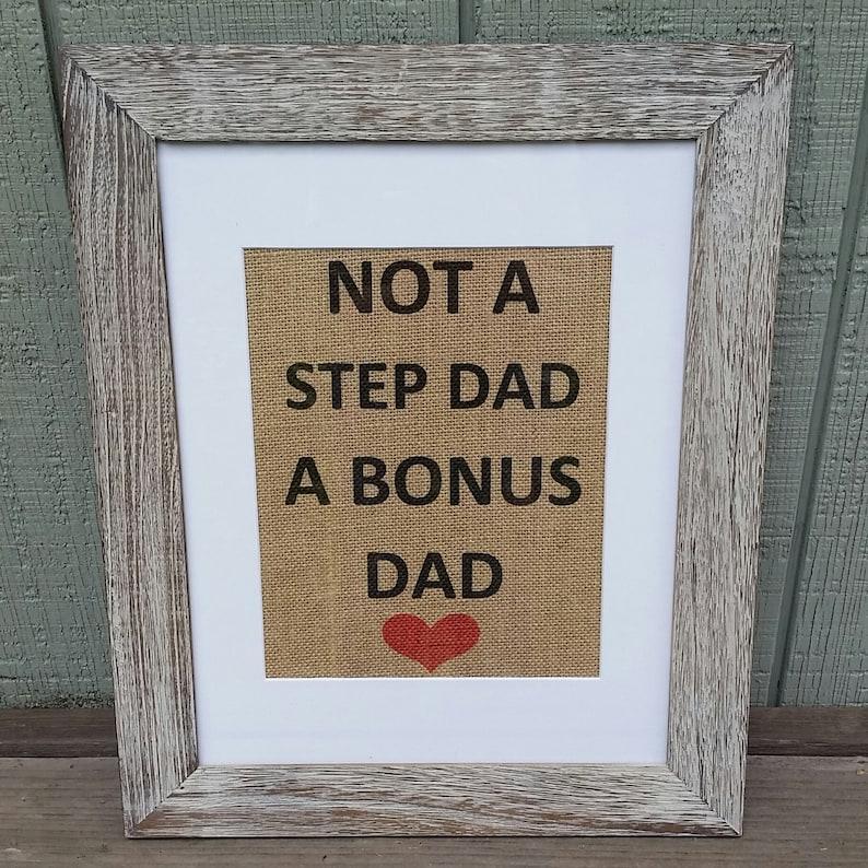 85c362a8d Fathers dayNot a step dad a bonus dadHusbandBest dad | Etsy