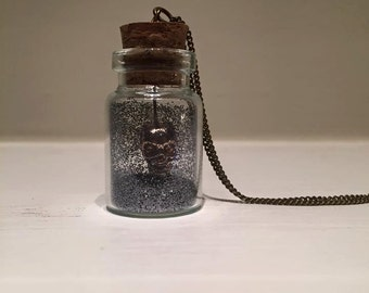 Eerie Skull Jar Necklace
