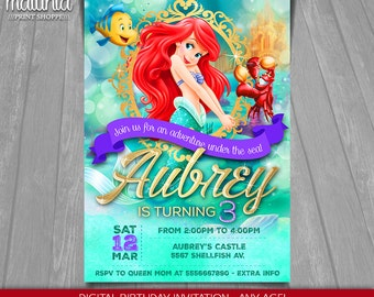 The Little Mermaid Invitation