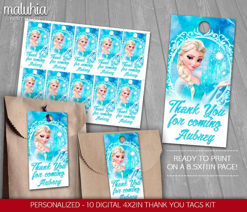 10 x Personalised  Birthday Invitations//Thank you Cards Tea Party FROZEN ELSA