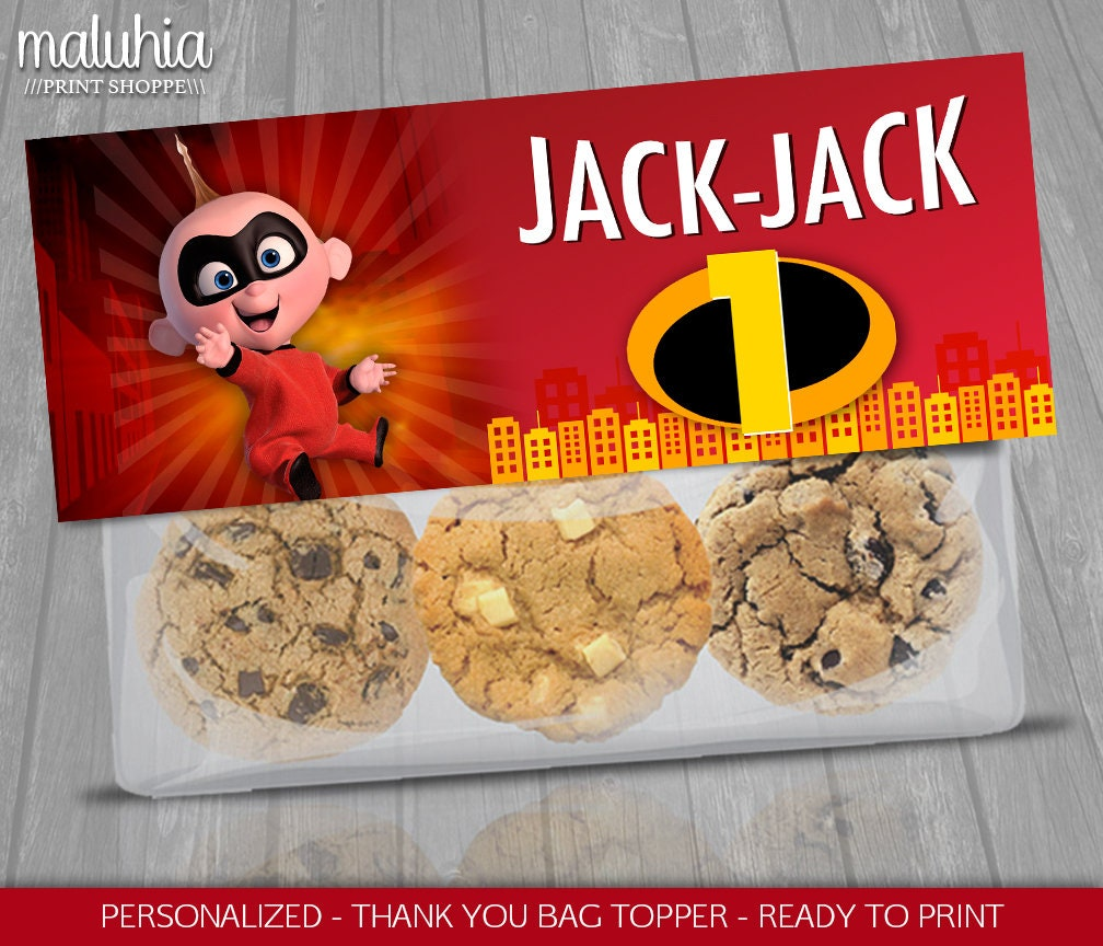 The Incredibles 2 Favor Bag Jack Jack Cookies Topper Label Etsy