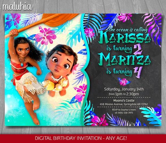 Moana Baby Joint Invitation Disney