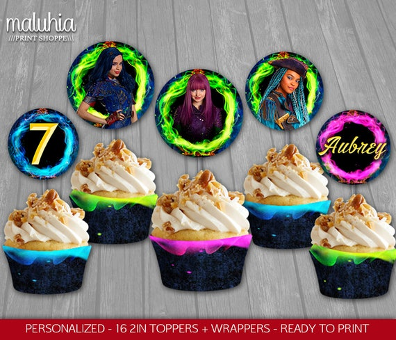 disney's descendants cupcakes - 570×489