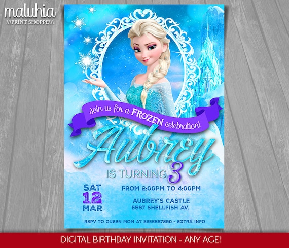 photo regarding Frozen Invitations Printable identify Frozen Birthday Invitation - Elsa Frozen Invitation Printable - Disney Frozen Released Invitation - Frozen Bash Invitations Snow Queen (FZIN01)