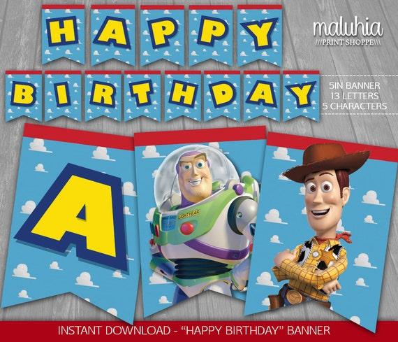 Toy Story Banner INSTANT DOWNLOAD Disney Pixar