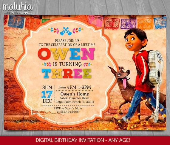 coco invitation disney pixar coco invite miguel rivera