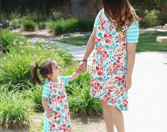 Mommy and me matching high/low dresses any size nb up to 5t and mom XS-XXL price for both S A L E choose fabric option or customize your own