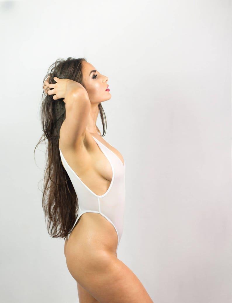 01af66ffb1 Thong Bodysuit Sexy lingerie womens bodysuit high-cut legs