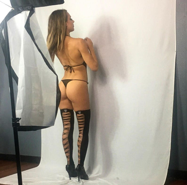 Sexy sheer black lace and mesh thong bodysuit black sheer  35ffe5f0d