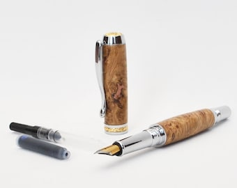 Wooden Fountain Pen - Handmade Calligraphy Pen - Mother's Day Gift - Father's Day Gift - Handturned Pen - Graduation Gift - Anniversary Gift