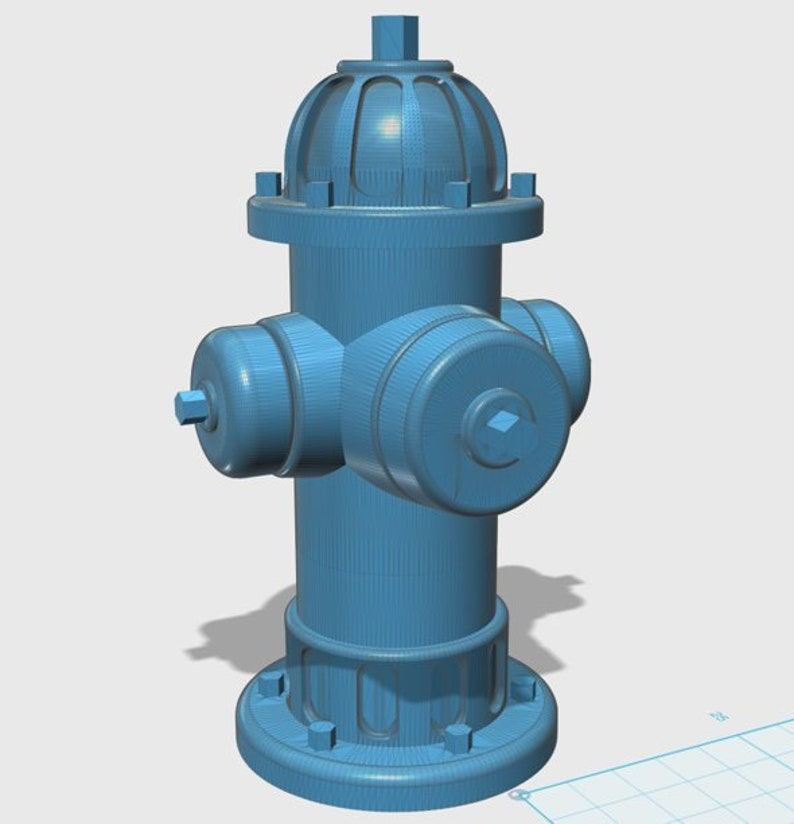 Fire Hydrant Digital File for 3d Printing STL File