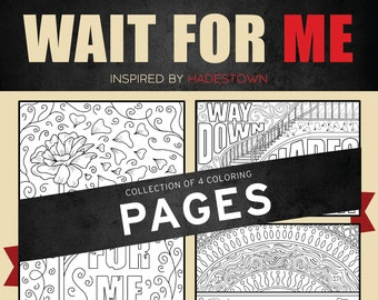 Hadestown, Coloring Pages, Broadway, Way Down, Wait For Me, Songbird, Broadway, Musical, Theater, Gift, Wall Art, Theatre Nerd