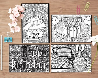Happy Birthday Gift Card Set
