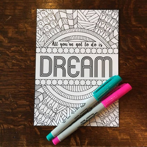 Dreamgirls Broadway Coloring Cards Musical Theater | Etsy