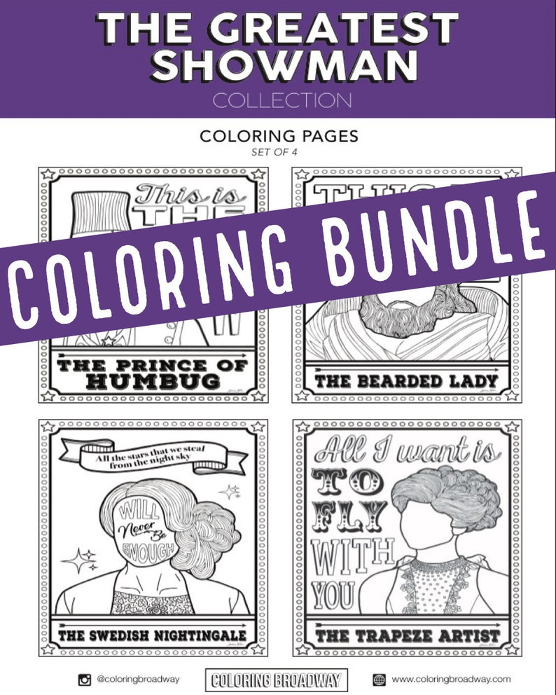 The Greatest Showman COLORING BUNDLE This is Me Never   Etsy