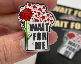 HADESTOWN Pin, Wait For Me, Acrylic, Broadway Musicals, Broadway Jewelry, Theatre Nerd, Broadway Gift, Broadway Accessories, Orpehus