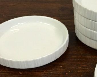 5 White Untetsetzer gemstone Bavaria Porcelain White glazed made in Germany