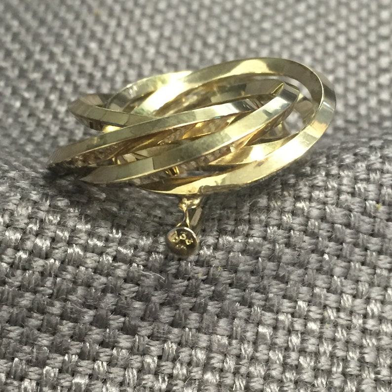 Vintage brooch 333ER Yellow gold 50 years