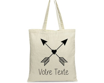 Tote bag, arrow and heart