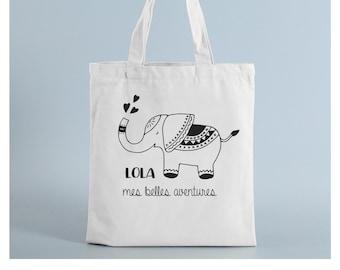 Tote bag school elephant ballad