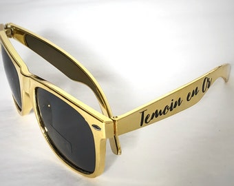 60e4e93716 Sunglasses personalized witness in gold