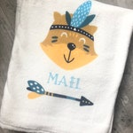 personalized baby Indian bear blanket