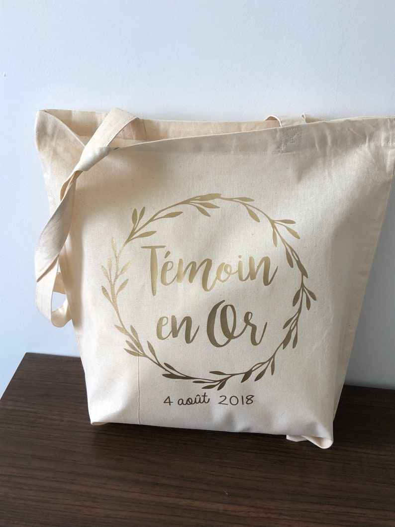 Tote bag temoin in Gold foliage image 0