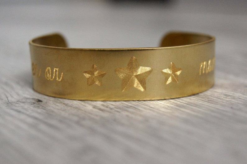 Gold engraved mom bracelet image 0