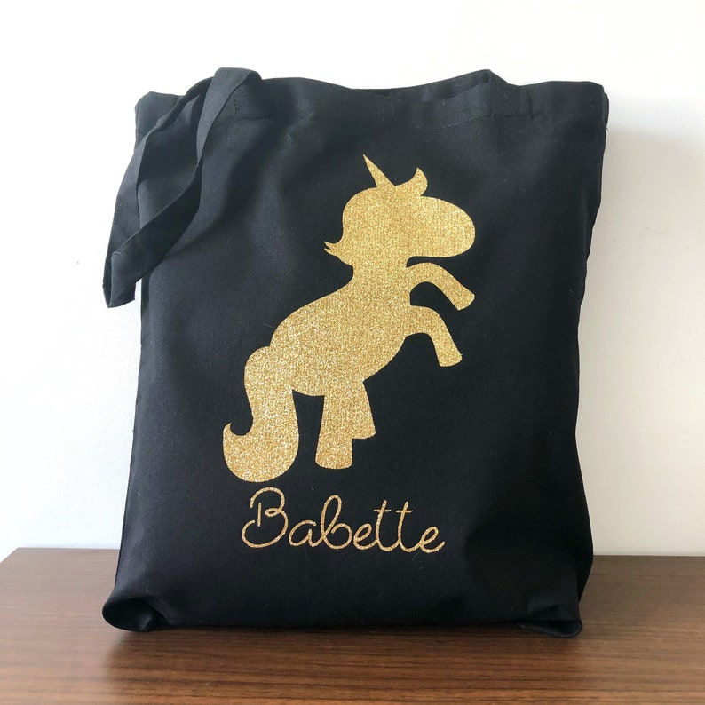 Tote bag glitter unicorns image 0