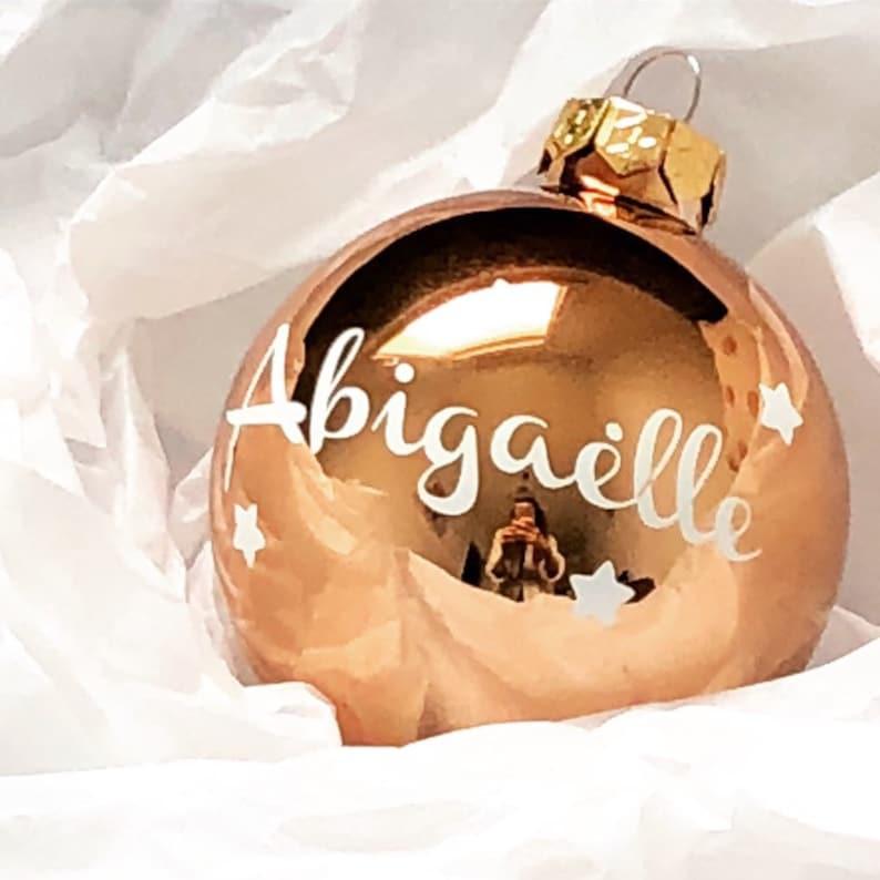 Glass Christmas ball with first name image 0