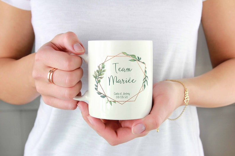 Mug team married country gold rose image 0