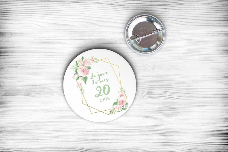 badge / mirror / stripper / personalized badge birthday image 0