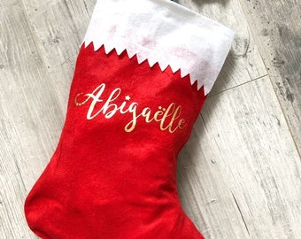 Personalized Christmas boot with a first name