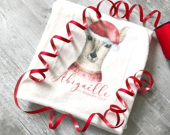 Christmas personalized baby blanket