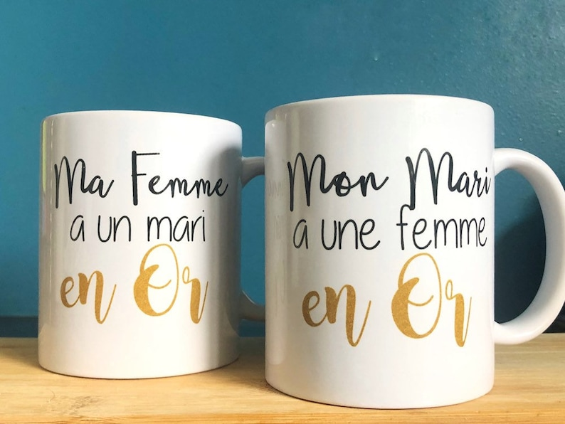 Pair of husband and wife Mugs image 0
