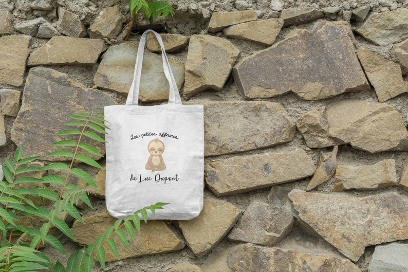Tote bag prince lazy personalized yoga image 0
